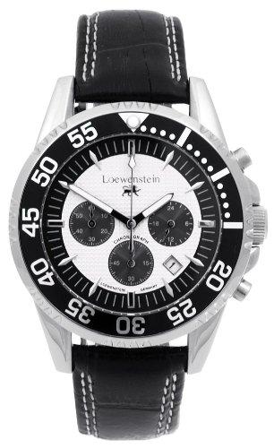 Loewenstein Sport Chronograph OS 20 mit drehbarer Luenette Schwarz Stoppfunktion Stoppfunktion