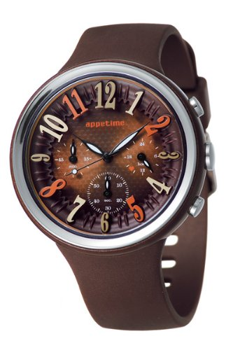 Appetime Japan Damen Armbanduhr SVD540014 Orange Peel Chocolat