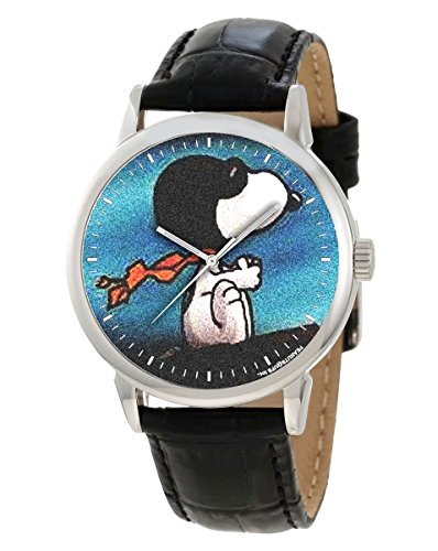 Rare 40 mm adult size Snoopy rot Baron Vintage Comic Art Collectible Blaugruen Blau Armbanduhr