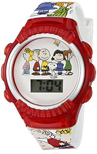 Peanuts Blaulicht LCD Armbanduhr