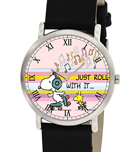 Just Rolle mit IT Symbolische Life Motto Snoopy Peanuts Armbanduhr