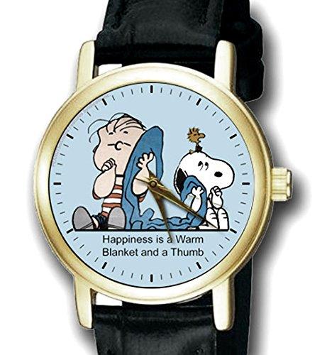 LINUS und seine Decke schoene Rare Original Art Peanuts Sammelfiguren 30 mm Unisex Armbanduhr