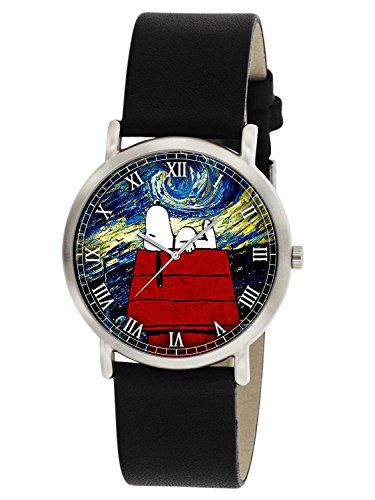 Snoopy V S VAN GOGH Classic Havre Collectible Peanuts Comic Art 30 mm Unisex Armbanduhr