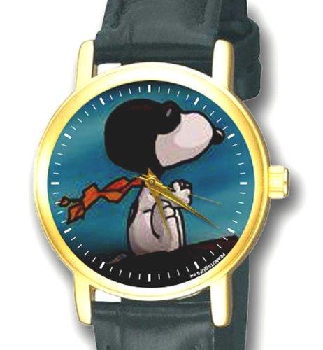 Snoopy Rot Baron Vintage Comic Kunst Sammelbar Peanuts Blaugruen Blau 30 mm Unisex Armbanduhr