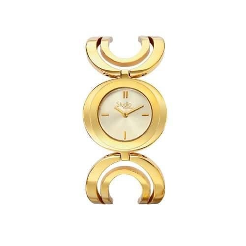 Fontenay Damen-Armbanduhr Analog Quarz Gold AUT2318FR