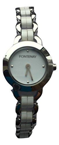 Fontenay Analog Quarz Weiss Keramik 3 ATM Wasserdicht UVP zzgl 89 00 erhaeltlich bei 40 Discount