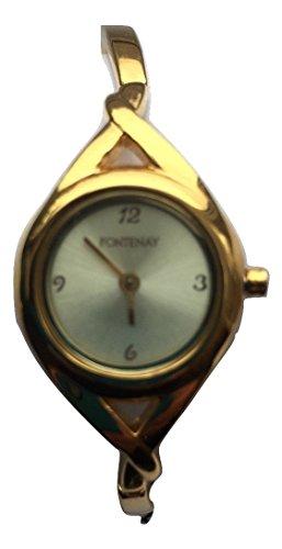 Fontenay Damen vergoldet Analog Quarz Gold Zifferblatt Armreif Armbanduhr 3 ATM UVP 79 00 erhaeltlich bei 50 Discount