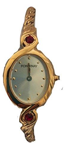 Platte 18 kt von Fontenay Amethyst Steine fuer Hochwertige Quarz analog Uhrenarmband