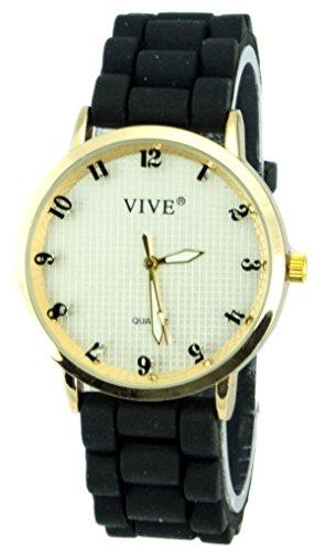 Einzigartige HOT SUN SUMMER TIME Edelstahl Armbanduhr in Black Schwarz mit Silikonarmband Color Edition Sommer Farben mit Strass Steinen