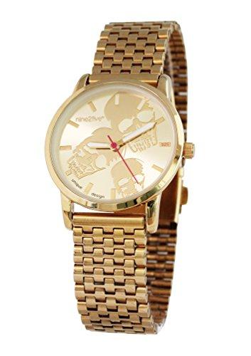 nine2five abns07glgl Damen Armband Gold Edelstahl Band Bicolor Zifferblatt Armbanduhr