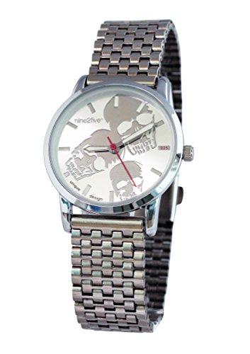 nine2five abns07slsl Damen Armband Silber Edelstahl Band Bicolor Zifferblatt Armbanduhr