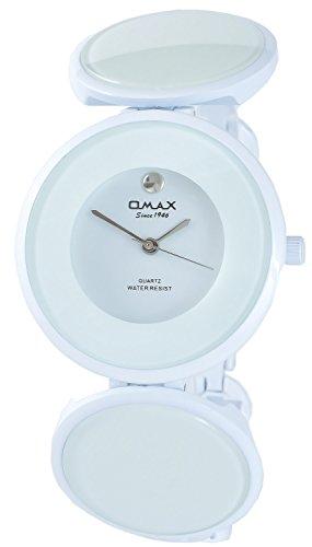 Omax Weiss Analog Metall Armbanduhr Quarz Uhr