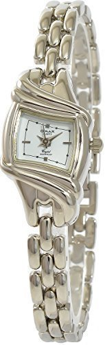 Omax Weiss Silber Analog Metall Armbanduhr Schmuck Mode Trend Quarz Uhr