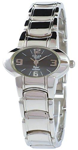 Omax Grau Silber Analog Metall Armbanduhr Quarz Uhr 50742428761499
