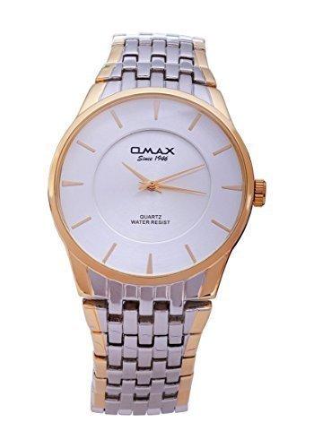 Silber Gold vergoldet OMAX Marke Men s moderne Mode analoge Japanisch Quarzuhr