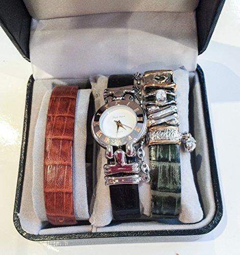 Paulo Franchi Designer Armbanduhr Set Silber NEU Geschenk verpackt