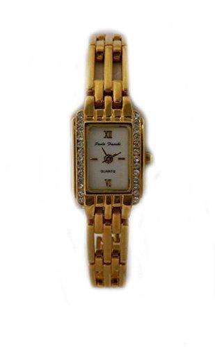 Paulo Franchi vergoldet echtem Kristallglas Pretty Gate Armband Damen Armbanduhr