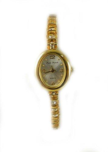 Paulo Franchi Samen vergoldet Kristall Line Armband Uhr