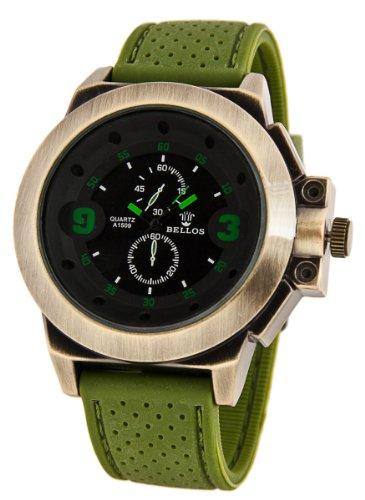 Exklusive Militaerstil Uhr Gruen Bronze