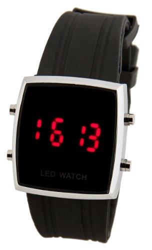 Modische LED Herrenarmband Uhr Schwarz