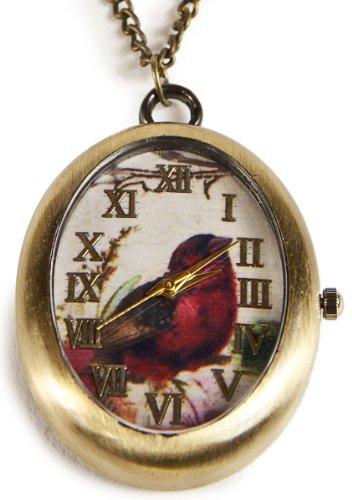 Z5 Traumhafte Vogel Motiv Umhaengeuhr Handarbeit
