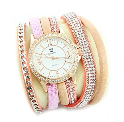 Leder rosa Diamanten CZ Hippie 1490