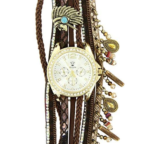 Hippie Bellos Leder braun Diamanten CZ Hippie 394