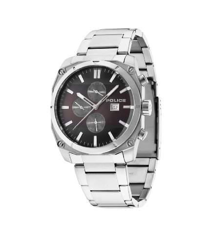 Police Herren-Armbanduhr Chronograph Quarz Edelstahl 14099JS12M