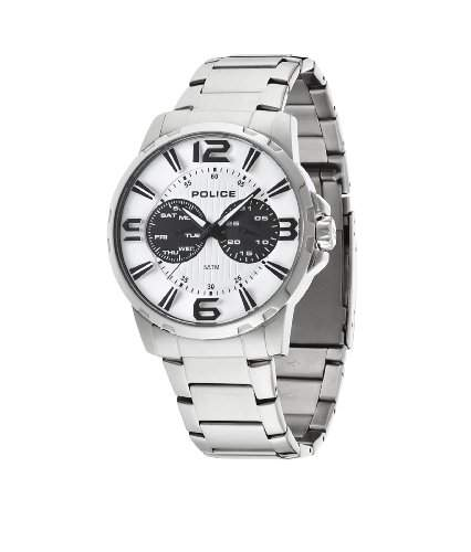 Police Herren-Armbanduhr VISIONARY Chronograph Quarz Edelstahl 14100JS01M