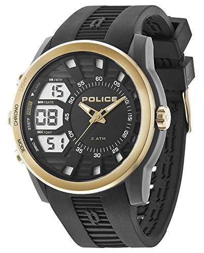 POLICE Herren-Armbanduhr TACTICAL Analog - Digital Quarz Silikon P14249JPBG-02