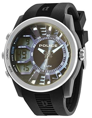 POLICE Herren-Armbanduhr TACTICAL Analog - Digital Quarz Silikon P14249JPBS-61