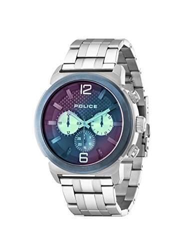 Police Herren-Armbanduhr CONCEPT Chronograph Quarz Edelstahl 14377JSTBL03M