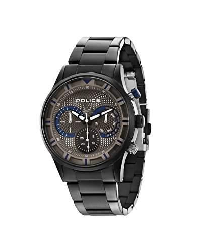 Police Herren-Armbanduhr Chronograph Quarz Edelstahl 14383JSU61M