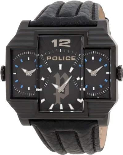 Police Herren-Armbanduhr HAMMERHEAD Analog Leder P13088JSB-02