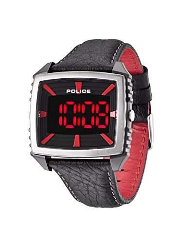 Police Herren-Armbanduhr Digital Quarz Leder PL13890JPBS02