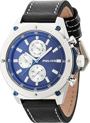 Police Contact dunkelblau silber blau PL14537JS 03A