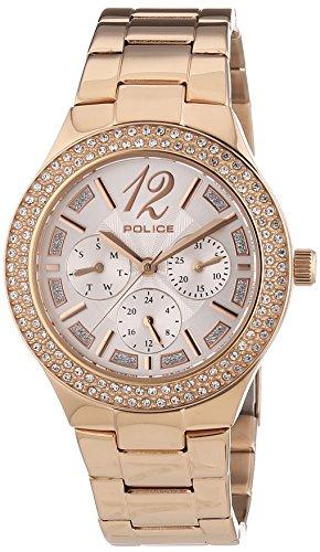 POLICE GLITZ Analog Quarz Edelstahl P14306MSR 04M