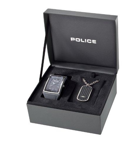 POLICE Herren Armbanduhr Analog Quarz Kautschuk STORMBOX