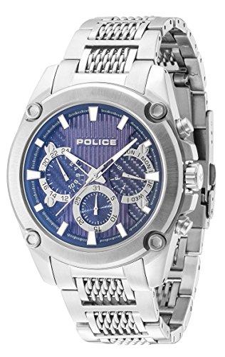 Police Mesh Up Analog Handaufzug 14543JS 03M