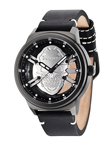 Police Herren Armbanduhr Predator Analog Quarz 14685JSB 61
