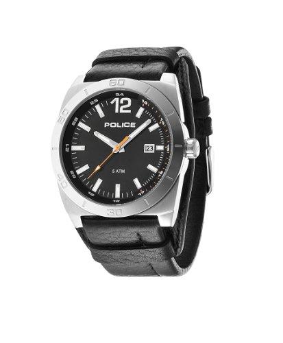 Police Herren Armbanduhr STAMPEDE Analog Quarz Leder 14107JS 02