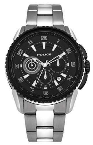 Police Portland Herren Armbanduhr Analog Quarz Edelstahl beschichtet PL 93645AEU 02M