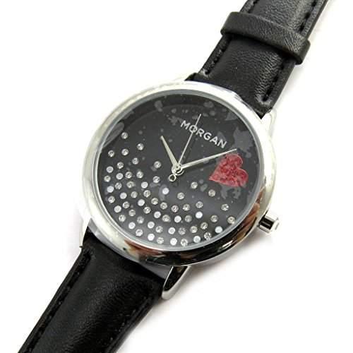 Armbanduhr french touch Morganschwarz beleuchtung