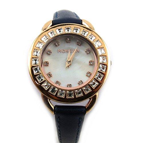 Armbanduhr french touch Morganmeeres goldfarben rosa diamanten