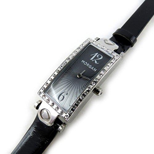 Armbanduhr french touch Morganschwarz silberfarben verfuehrung