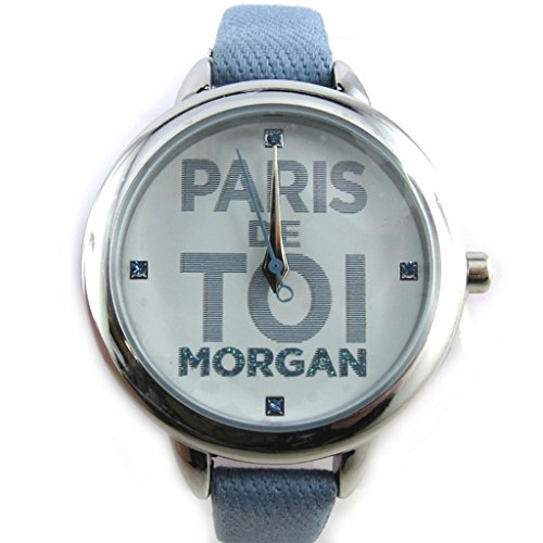 Armbanduhr french touch Morganblau silberfarben paris sie