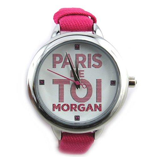 Armbanduhr french touch Morganfuchsia silberfarben paris sie