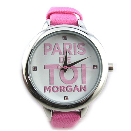 Armbanduhr french touch Morganrosa silberfarben paris sie