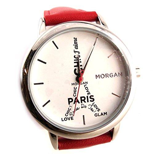 Armbanduhr french touch Morganrot weiss eiffelturm