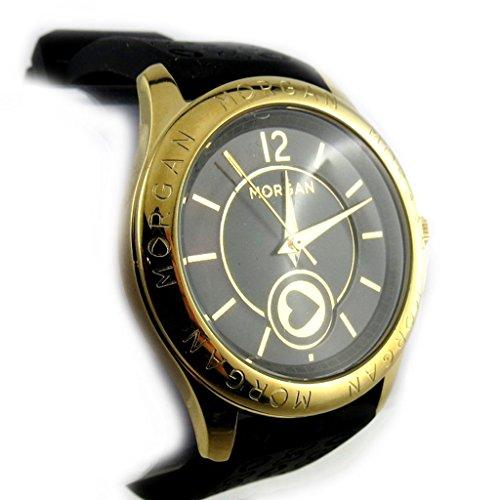 Armbanduhr french touch Morganschwarz goldfarben liebe